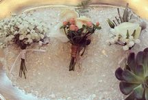 Flowers : Buttonholes, corsages and flower crowns / Flowers created by bijouxfloral.co.uk