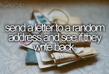 Bucketlist ♡ / A part of my personal bucketlist. ♡