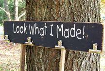 ▸ DIY  Wood signs