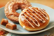 Fall Flavors / Savor the season with Krispy Kreme Pumpkin Spice and new Salted Caramel Latte doughnut. They are now available at all of our Philly area locations. Limited Time Only.