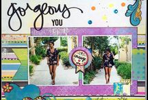 Design Team Layouts ~ April 2016 Kits / Inspiration from Designers using the April 2016 The ScrapRoom Flavors of the Month Kit.