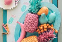 PINEAPPLE A PLENTY / We're loving all things pineapple in wedding centerpieces, party planning, and home decor.