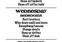 Cleaning / Tips and schedules