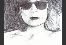 April-Louise Turner goes Helmut Newton / some of drawings...there also are paintings in a while  Originals for purchase or shows exhibitions