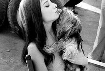 Audrey / Audrey and her dog