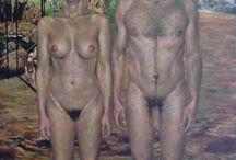 Portefólio de Pintura - Nú Artístico / Obras cujo tema central é o Corpo como símbolo/ elemento semântico representativo das dimensões do Humano