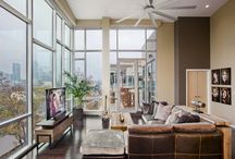 Downtown Penthouse / Condo Interior Design by Paula Ables Interiors