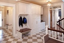 Laundry and mud rooms / Love how this is hub - and the staircase to up and down - to die for