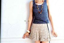 Crochet skirt.  / Faldas / by Martha Salazar