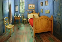 "Van Gogh Bedroom: real in Chicago / To promote an exhibition in Chicago about Van Gogh his famous bedroom was built and offered by ""Van Gogh"" via Airbnb ;-) #art #design #airbnb #travel #chicago #vangogh"