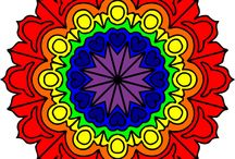 Mandalas / The word mandala is Sanskrit in origin – mand meaning to 'mark off' and la meaning 'circle' or 'sacred centre'.  Sometimes the word mandala is translated as 'essence container'. Mandalas provide an opportunity to express our creativity and are a good form of meditation.