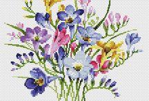 Schema punto croce mazzo di fiori