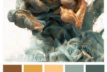 S + S wedding colour pallet