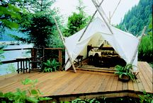 Original Clayoquot in the Wilderness  / A collection of photos of the original Outpost camp and some from many moons ago. Thank you to Ken Gibson, Tofino historian, for the black and white photos.  / by Clayoquot Wilderness Resort