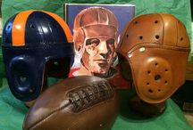 Leather Football Helmets from Your School for Christmas Gifts - / Fine handcrafted Replica Old college leather  football helmets from  pasttimesports.biz