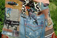 Ideas bolsos Jean reciclado