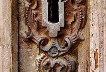 Escutcheon and door knocker