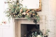 Fireplace floral decor