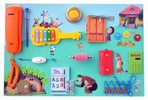 Бизиборды / Бизиборд - это развивающая доска для вашего ребенка со множеством замочков и секретов.