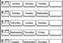 Week names.