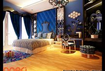 Project : FR Bedroom / A contemporary gothic designed inspired bedroom that we created back in 2011