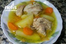 Sebzelı tavuk haslama
