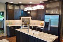 Kitchens / Kitchen, kitchen remodel, quartz countertop, tile floor, tile backsplash, stainless steel appliances, cabinets, kitchen design, granite countertops, wood floors, kitchen remodeling