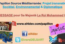 EL4DEV Le Papillon Source Méditerranée 2 - Elvere DELSART / Changeons ensemble le monde en commençant par changer ensemble l'espace méditerranéen à travers un projet multinational « Le Papillon Source Méditerranée » - Une initiative unique au monde et fortement positive qui amènera une dignité par la cohésion, la reconstruction collective et l'évolution positive des nations et des peuples de l'espace méditerranéen. http://www.el4dev.com/papillon/ https://www.facebook.com/el4dev