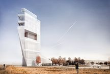 a-viz Cluj-Napoca Airport traffic control tower / architecture contest renderings . Planwerk