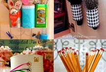 Organize home with cans