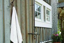 Outdoor shower ideas.