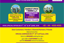 Special Offers / Click this board to avail offers from Marutham Group for all of the projects in Chennai, Coimbatore, Trivandrum, Bangalore and so on.