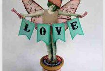 Fairy dolls: Cotton bobbins
