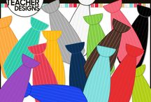 Clothing & Accessories Clip Art / Custom graphics and clip art created by The 3AM Teacher | Original illustrations by Michelle Tsivgadellis. Thank you for visiting.