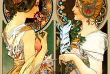 Art Nouveau illustrations