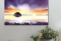 Scottish Islands / Art prints and canvas prints www.splashyartystory.com