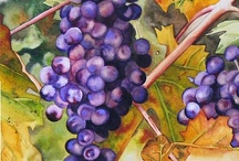 Art grapes & wine