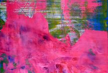 from pink to red / All my artwork is on gallery quality heavy duty stretched and triple primed cotton canvas and ready to hang. I include a certificate of authenticity that lists the materials as well as when the painting was completed. Ships with a tracking number.  www.NestorToro.com