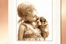 haft krzyżykowy - dzieci