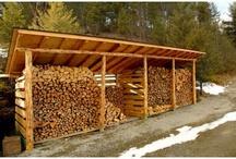 solar panel wood store