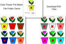 Thema bloemen kleuters / Flower theme preschool / Thema bloemen kleuters, lessen en knutselen / Flower theme preschool, lessons and crafts