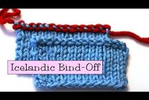 video knitting Bind/cast off