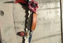 Spijker armbanden / Armbanden van spijkerstof