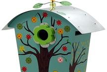 Painted birdhouses