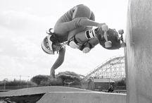 Girls skateboarding in the1970's