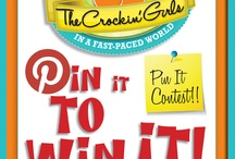 """Pin it to Win it Party Contest / Join us for the first Crockin' Girls pinterest contest. Create your own ideal party board with food, decor and more!             1) Follow us on Pinterest 2) Create a Board called """"Crockin' Girls Birthday Party Pins"""" 3) Repin this image  4) Share your board link in the blog comments (http://crockingirls.com/2012/06/6158/)."""