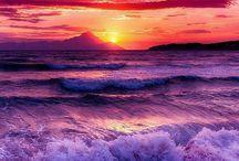 beautiful sun sets