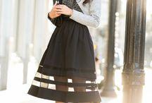Faille skirts