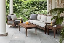 Wooden Seating Furniture / Get comfortable and relax with outdoor furniture pieces made of teak, ipe or poly lumber recycled wood materials.  Furniture shown here can be purchased at www.rockymountainpatiofurniture.com