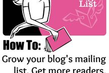 Email Lists for Bloggers / We all know how important having an email list is, but finding the right mix of what to send, to who, when and how can be a little overwhelming. Here's the best mix of information around to help you build your email list.